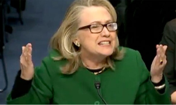 Hillary Clinton at senate hearing