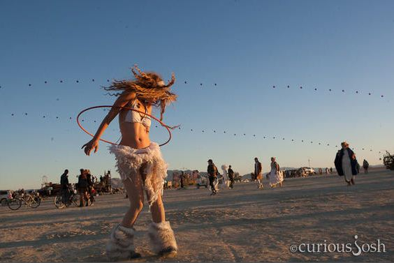 burning man hula girl curious josh