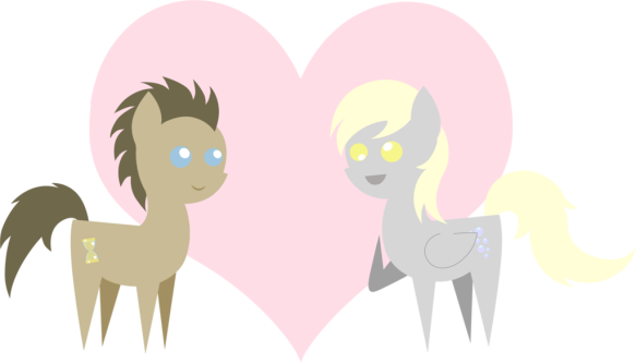 pointy_love___doctor_whooves_x_derpy_by_2kaze-d6u61o8