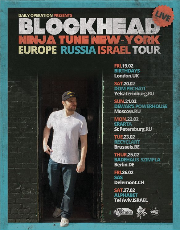 Blockhead tour flyer